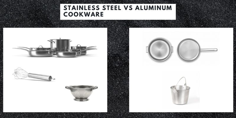 Aluminum vs stainless steel cookware vs nonstick cookware