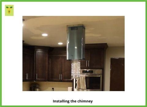 Duct pipe through chimney