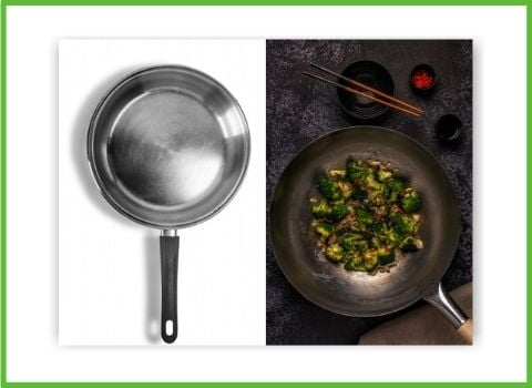 carbon & stainless steel frypan comparison